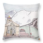 Kedarnath Jyotirling Throw Pillow