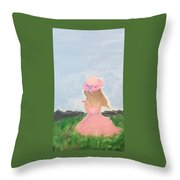 Keeghan Of The Field Throw Pillow