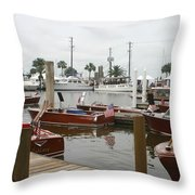 Keels And Wheels Throw Pillow