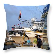 Keels And Wheels Yachta Yachta Yachta Yachta Throw Pillow