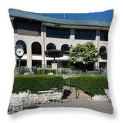 Keeneland Racetrack Grandstand Throw Pillow