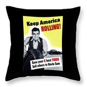 Keep America Rolling Throw Pillow