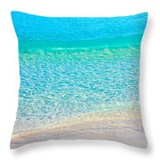 Keep Calm And Listen To The Sea Throw Pillow