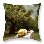 Keep Calm And Relax Throw Pillow by Martine Roch