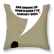 Keep Going Places - Mad Men Poster Don Draper Quote Throw Pillow