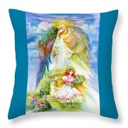 Keep Her Safe Lord Throw Pillow