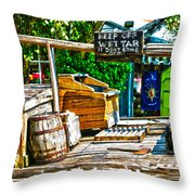 Keep Off Wet Tar It Don't Come Off Key West Florida Throw Pillow