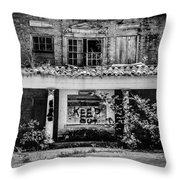 Keep Out Throw Pillow by Amber Dopita