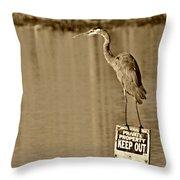 Keep Out Throw Pillow