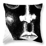 Keep Your Mouth Shut Throw Pillow