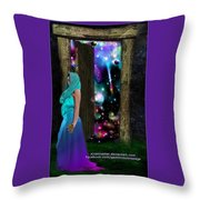 Keeper Of Other Worlds  Throw Pillow