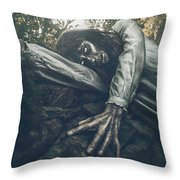 Keeper Of The Crypt Throw Pillow