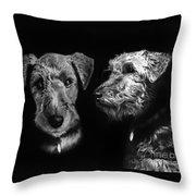 Keeper The Welsh Terrier Throw Pillow
