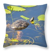 Keeping His Head Above Water Throw Pillow