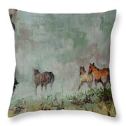Keep'm Movin Throw Pillow