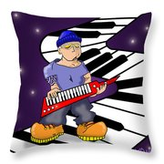 Keez Throw Pillow