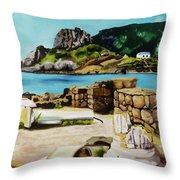 Kefalos, Greece Throw Pillow