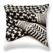 Keffiyeh Throw Pillow by Fabrizio Troiani