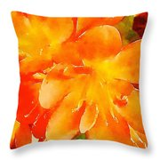Kaffir Lily Blossoms Throw Pillow