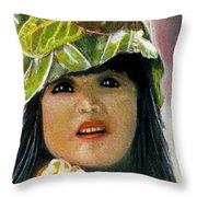 Keiki Child In Hawaiian #115 Throw Pillow