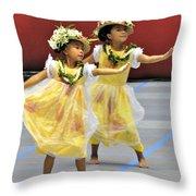 Keiki Hula Throw Pillow