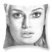 Keira Knightley Throw Pillow