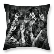 Keith And Ronnie 2 Throw Pillow