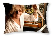 Keith Emerson By Gene Martin Throw Pillow
