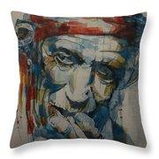 Keith Richards Art Throw Pillow