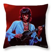 Keith Richards The Riffmaster Throw Pillow