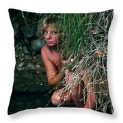 Kelly Nude Throw Pillow