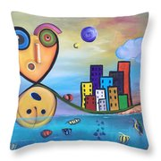 Kellyroy Series #4 Throw Pillow