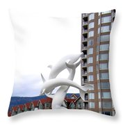 Kelowna Dolphins Throw Pillow