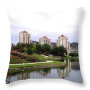 Kelowna Waterfront Park Throw Pillow