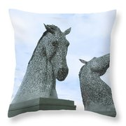 Kelpies Throw Pillow