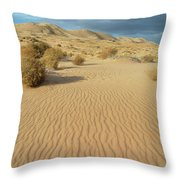 Kelso Dunes Mojave Preserve Portrait Throw Pillow