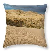 Kelso Singing Sand Dunes  Throw Pillow