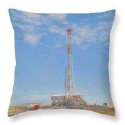 Kenai Mid-continent Rig 55 Throw Pillow