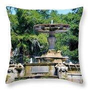 Kenan Memorial Fountain Throw Pillow