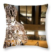 Kendall Square Mit Alchemist Statue Throw Pillow