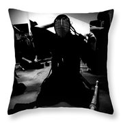 Kendo - Suiting Up For Examination Throw Pillow