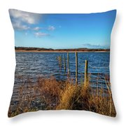 Kenfig Pool In Wales Throw Pillow