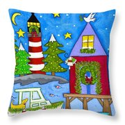 Kennebunkport Holiday Arrival Throw Pillow