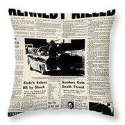 Kennedy Assassination, 1963 Throw Pillow