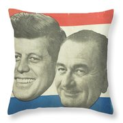 Kennedy For President Johnson For Vice President Throw Pillow