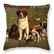 Kennel Club Throw Pillow
