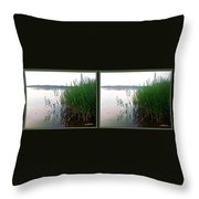 Kennersley Pt Marina 3d Crossview Stereo Throw Pillow