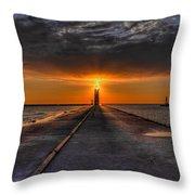 Kenosha Lighthouse Beacon Throw Pillow