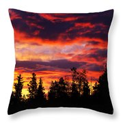 Kenosha Pass Sunrise Throw Pillow