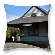 Kensington Train Station Throw Pillow